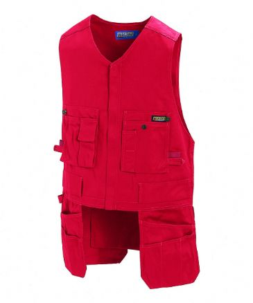 Blaklader 3105 Waistcoat 65% Polyester/35% Cotton (Red)